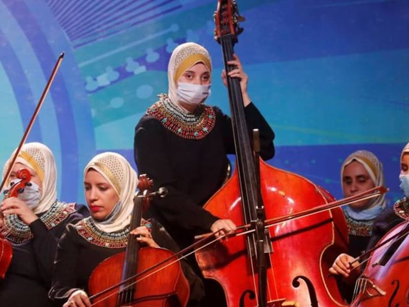 Egyptian orchestra for visually-impaired women resumes concerts amid coronavirus