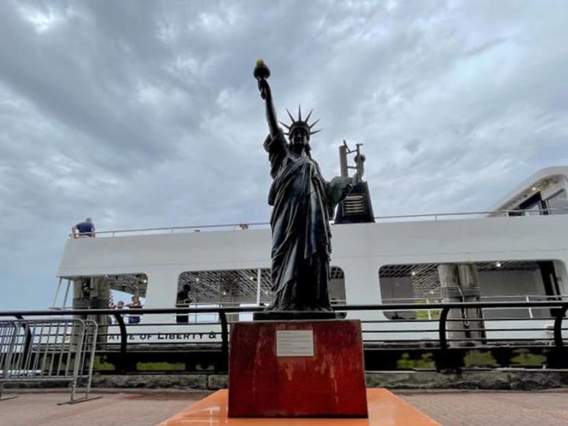 Mini Statue of Liberty retraces her big sister's steps to New York Harbor