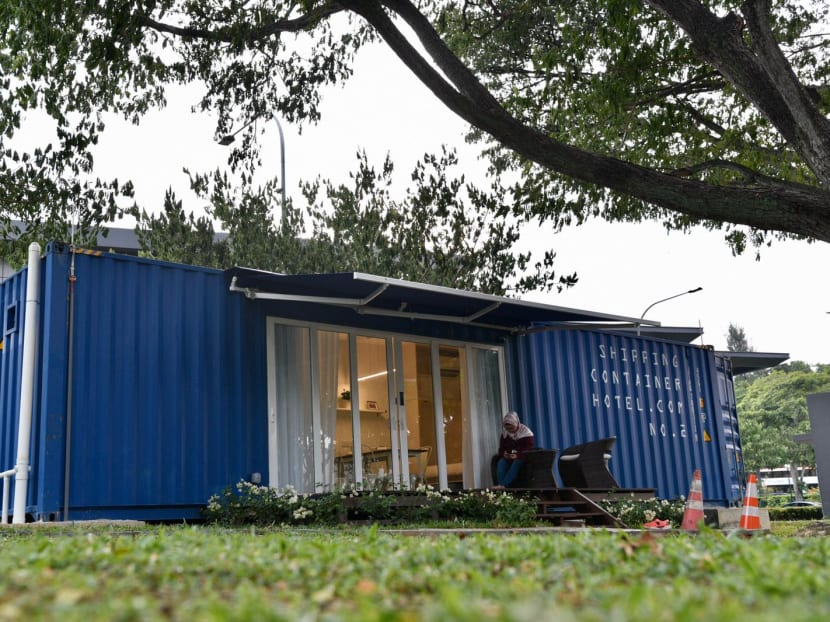Singapore's first shipping container hotel springs up in one-north