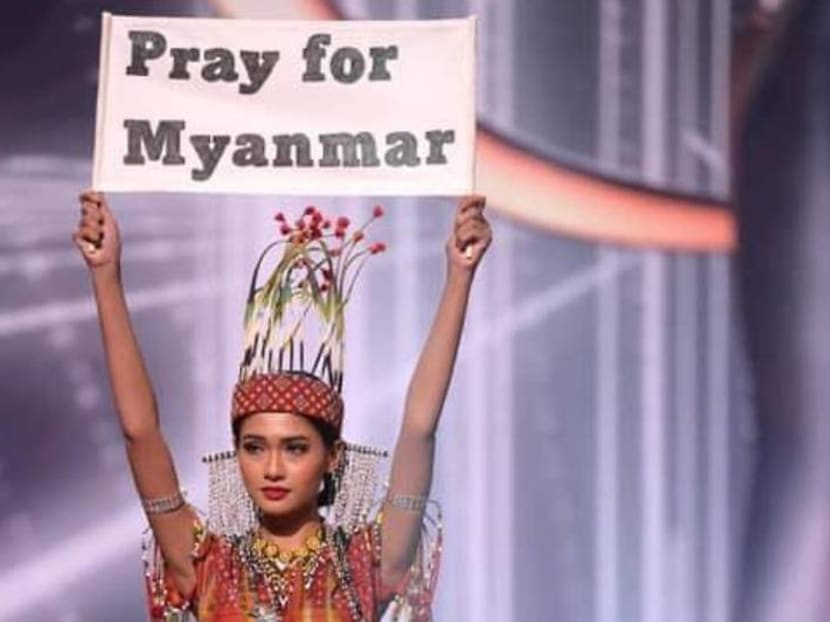 At Miss Universe pageant, Myanmar's contestant pleads: 'Our people are dying'