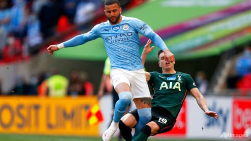 Man City's Walker racially abused online after League Cup win