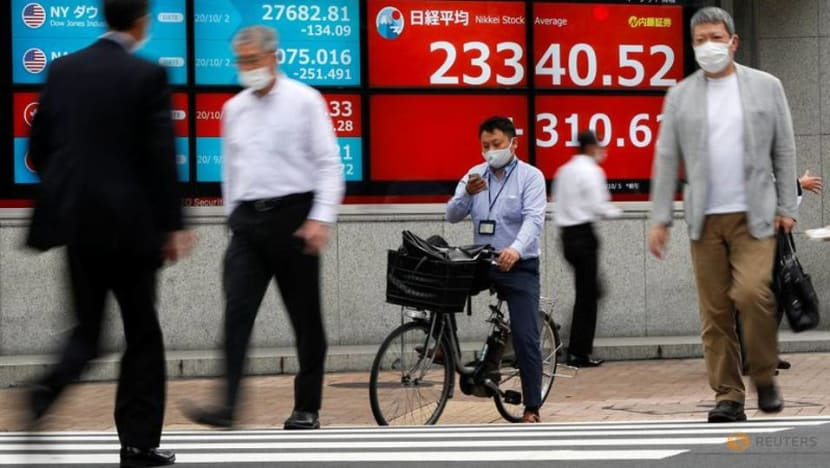 Asian shares close in on two-and-a-half-year peak as US stimulus hopes return