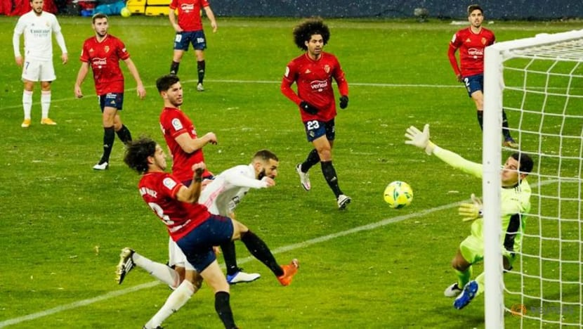 Football: Real Madrid frustrated by Osasuna in freezing conditions