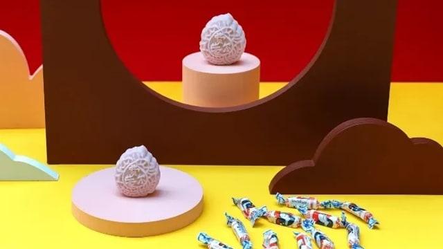 小时候的味道!来一口大白兔奶糖冰皮月饼
