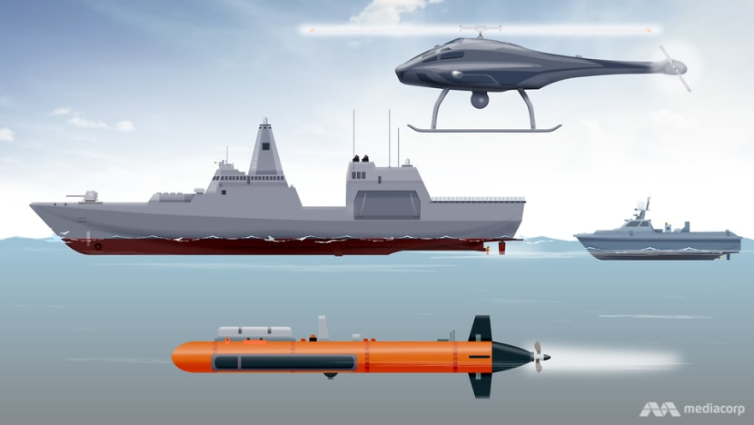 Submarine hunter, recon leader: What a naval mothership and its unmanned systems can do