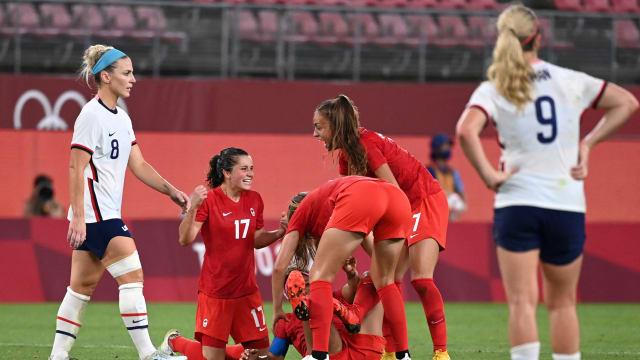 加拿大女足小胜美国  进军决赛