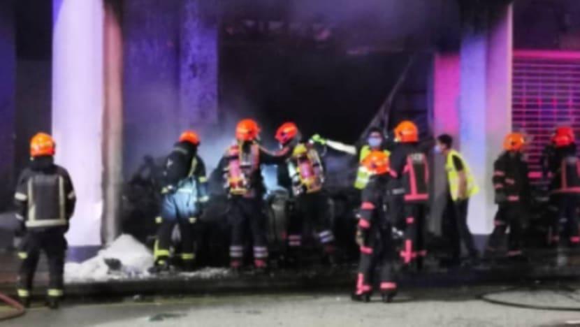 5 men killed in car crash at Tanjong Pagar, woman hospitalised with severe burn injuries