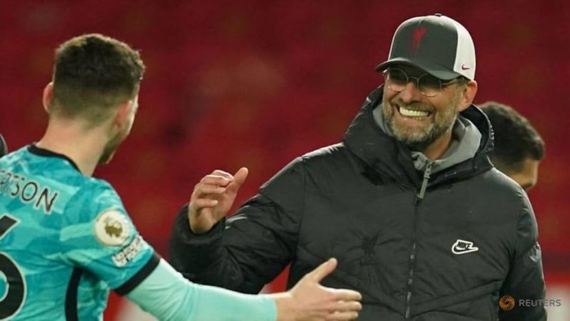 Football: Liverpool's Klopp enjoying top-four chase as battle intensifies