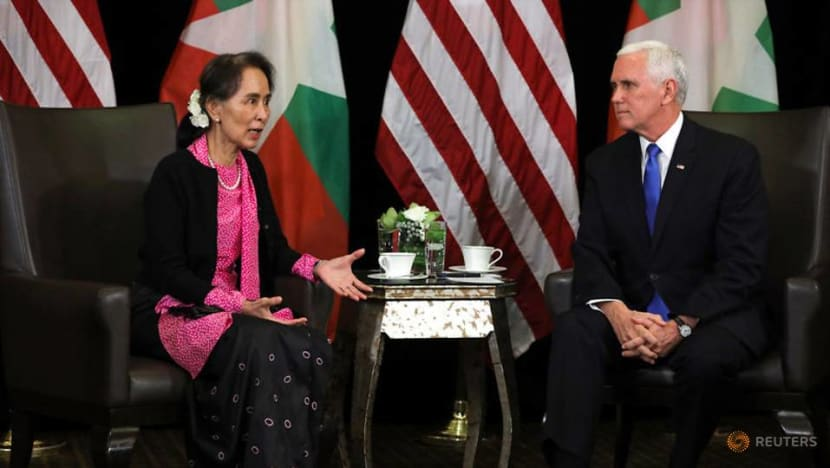 Commentary: Lecturing Aung San Suu Kyi on press freedom wasn't Pence's best moment