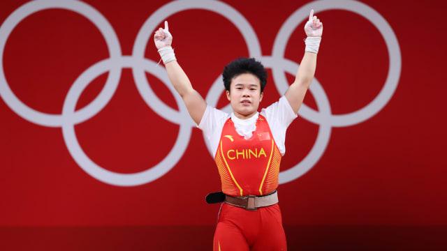 中国举重破纪录摘第二金 伊朗韩国也分别夺首金