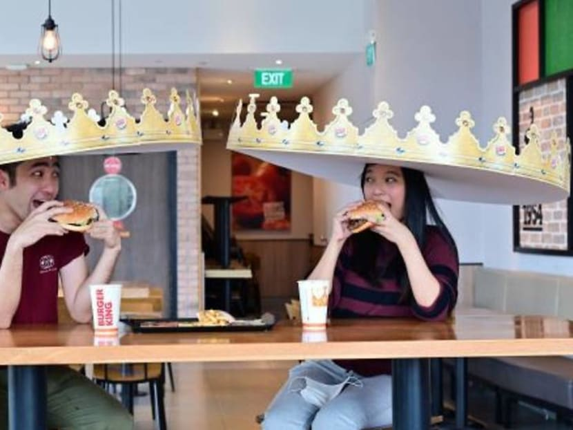Giant crowns, cut-outs: Burger King and KFC Singapore have fun with safe distancing