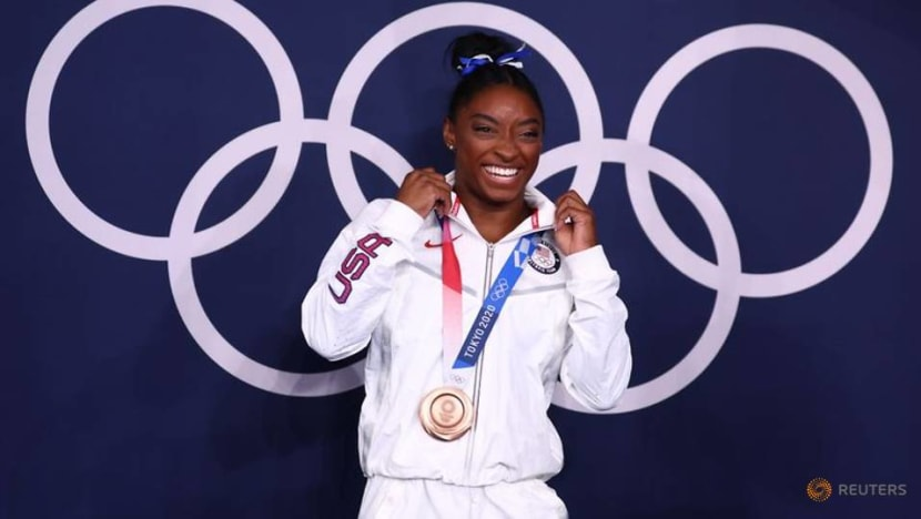 Olympics-Gymnastics-Many 'twisties' and turns, but Biles exits Games a champion
