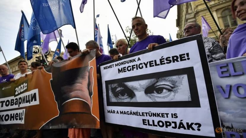 Hungarians protest against alleged illegal surveillance with Pegasus spyware