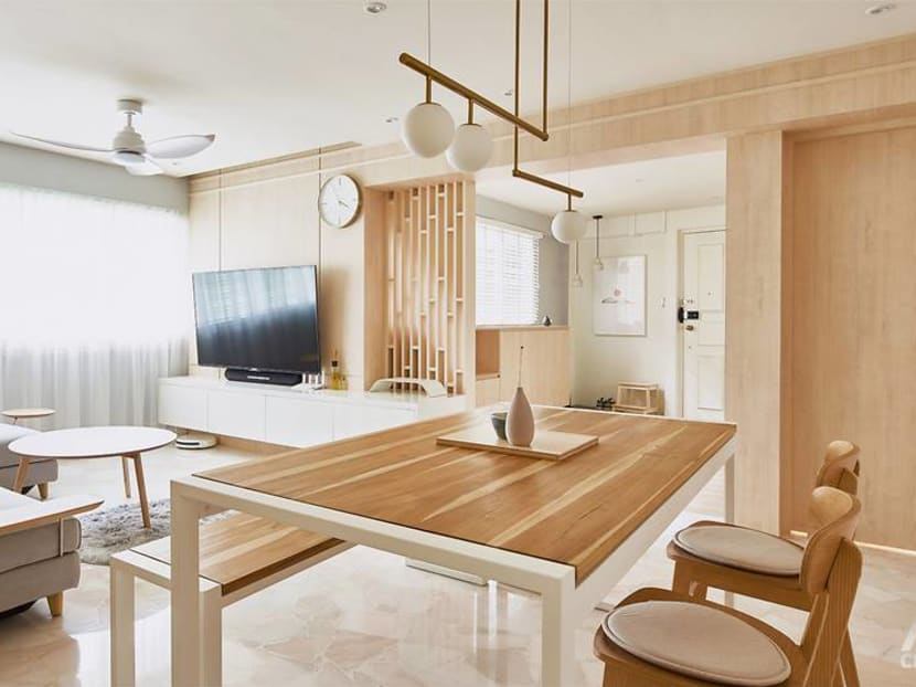 Zen out with shoji screens in this couple's Japanese-inspired 4-room HDB flat