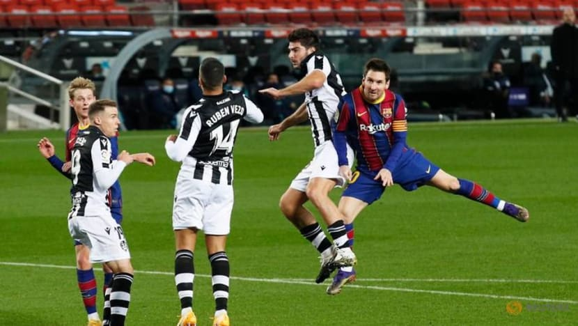 Football: Messi fires anxious Barca to victory over Levante