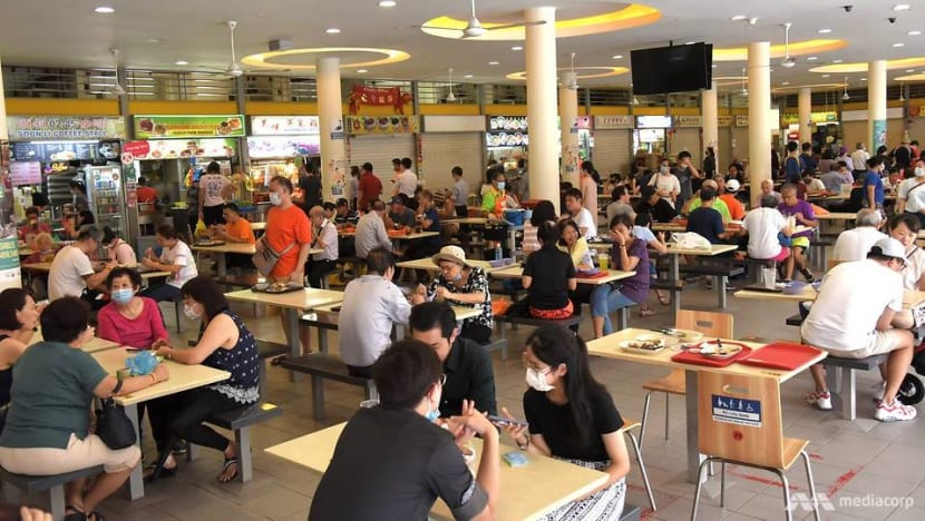 COVID-19: Hawker centre seat markings revised, restrictions at some markets to be removed in Phase 3