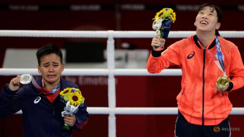 Olympics-Boxing-Irie wins maiden women's boxing gold for Japan in upset
