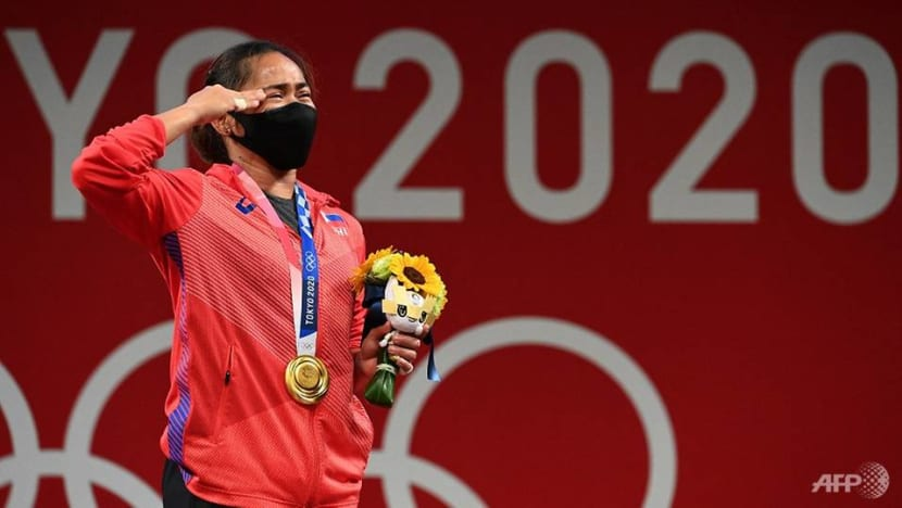Weightlifter Diaz wins first ever Olympic gold for Philippines