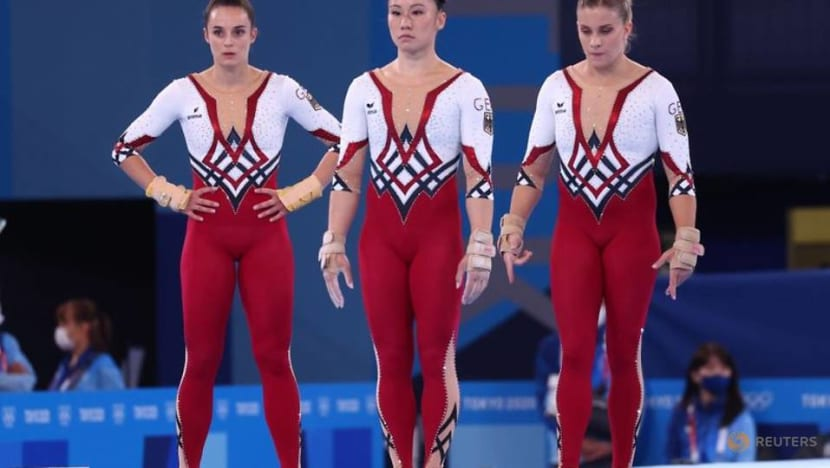 Olympics-Gymnastics-German full-body suits applauded in slow-to-change Japan