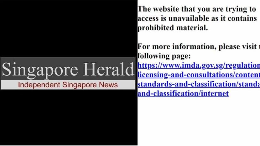 IMDA blocks Singapore Herald website for not removing articles on Singapore-Malaysia maritime dispute