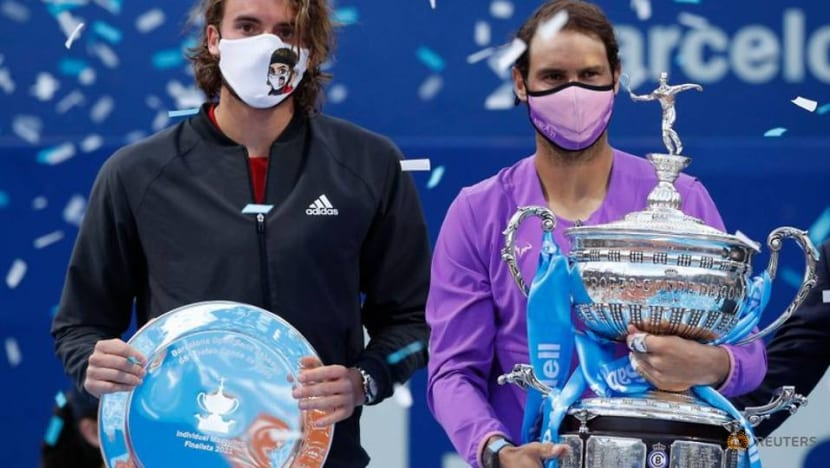 Tennis-Nadal outlasts Tsitsipas to claim 12th Barcelona Open title