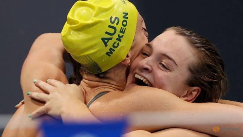 Olympics-Swimming-Australia win women's 4x100m medley relay gold