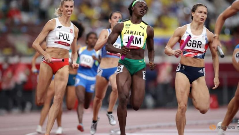 Olympics-Athletics-Poland top 4x400 mixed relay heats as US disqualified