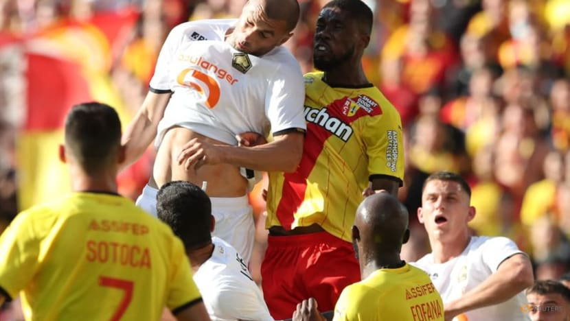 Football: Lens v Lille derby resumes after crowd trouble leads to suspension