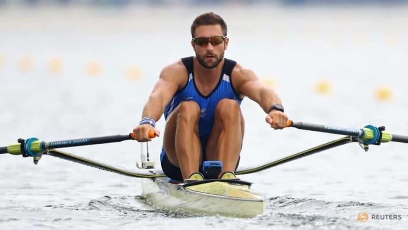Olympics-Rowing-Greece's Stefanos Ntouskos wins men's single sculls gold