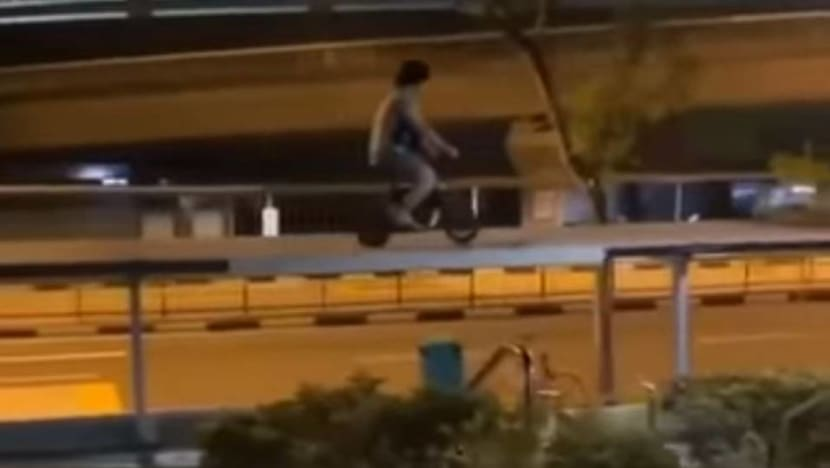 E-scooter user arrested for riding on top of walkway shelter
