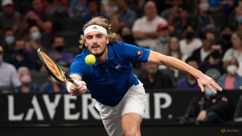 Tsitsipas sizzles as Team Europe close in on Laver Cup triumph