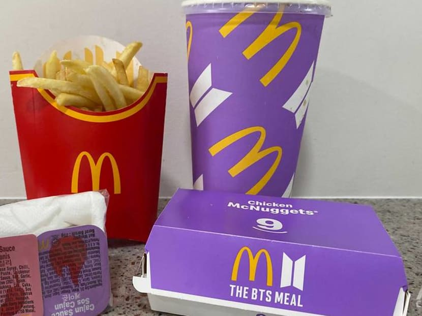 McDonald's BTS Meal lands in Singapore – without the band-themed paper bag