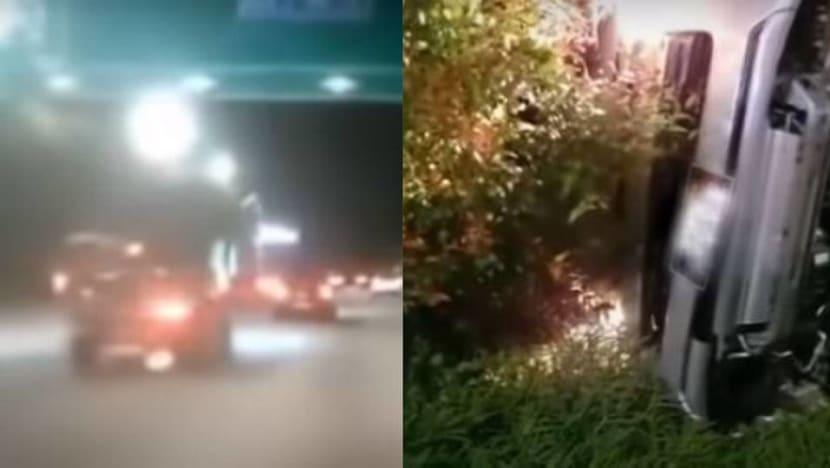 2 men arrested for dangerous driving after accident involving car, van along CTE
