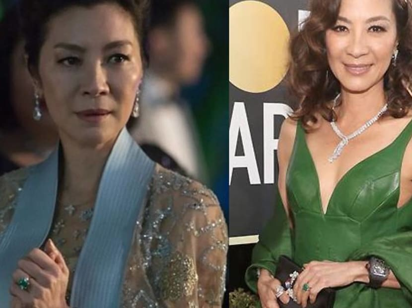 Michelle Yeoh wore her Crazy Rich Asians ring to the Golden Globes