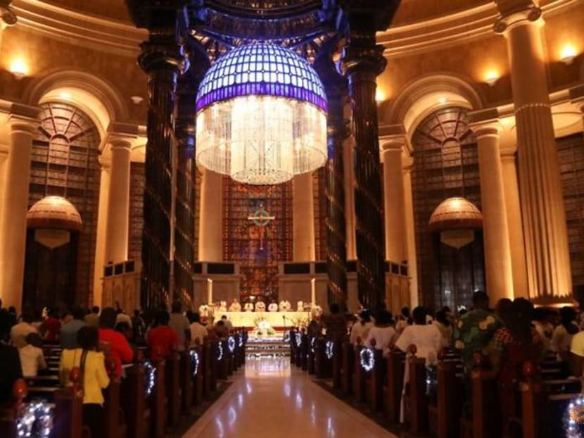 Ivorian Christians celebrate Christmas in giant basilica