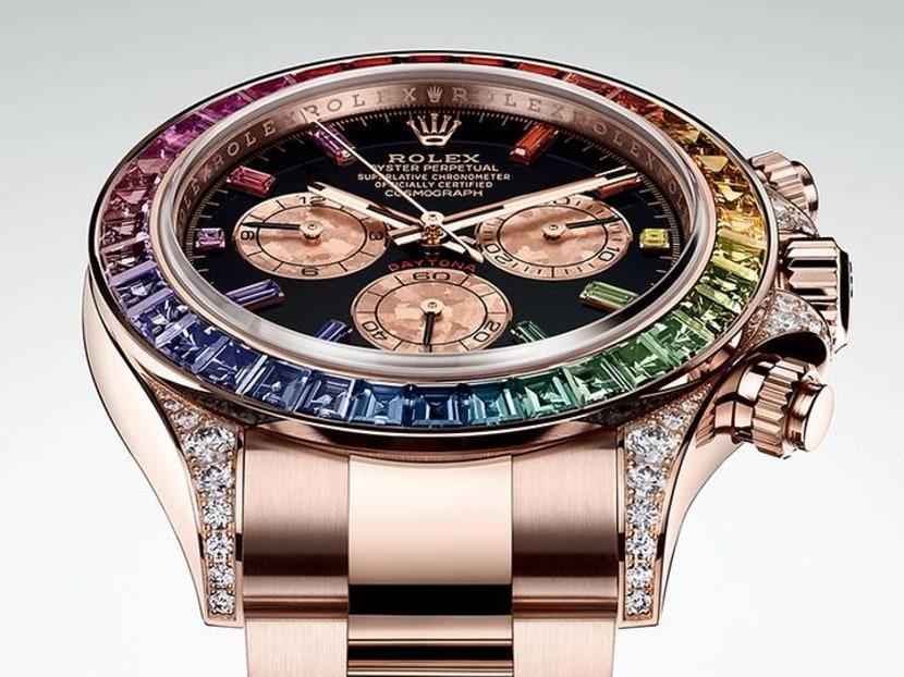 How the joyful rainbow spectrum found its way onto luxury timepieces