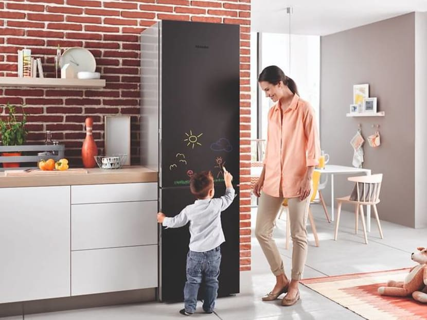 This refrigerator lets you jot down grocery lists and doctor's appointments