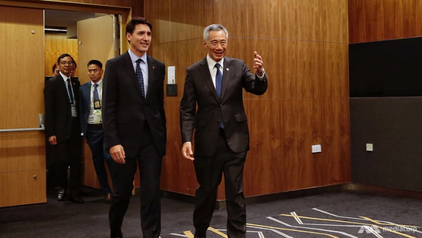 PM Lee, PM Trudeau discuss Canada-China dispute, CPTPP in phone call