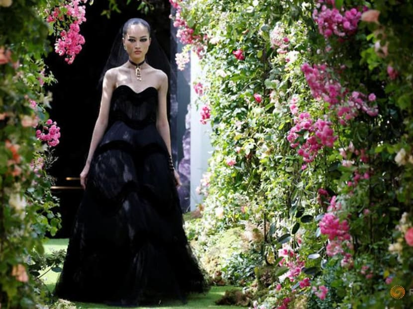 Christian Dior goes back to black for Haute Couture fashion week