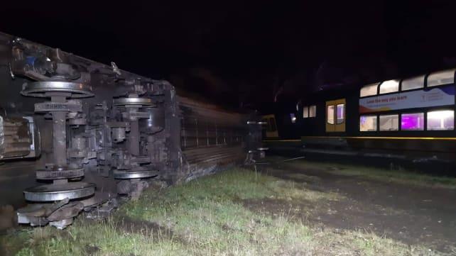 Passenger train derails after hitting abandoned van in Australia