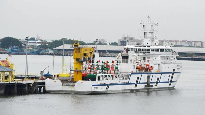 Malaysian vessel parked in Singapore waters is used to mark territory