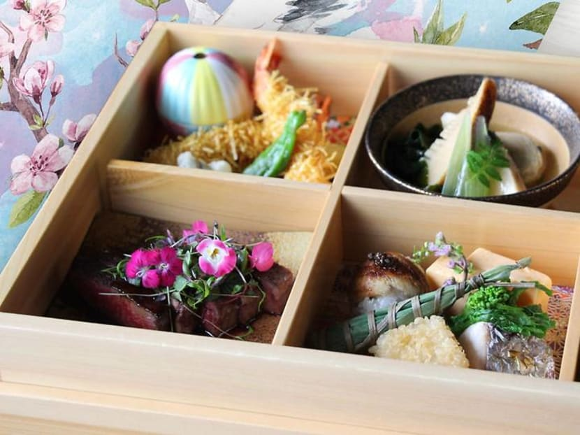 The bento set lunch at this Japanese restaurant is a lavish six-course affair