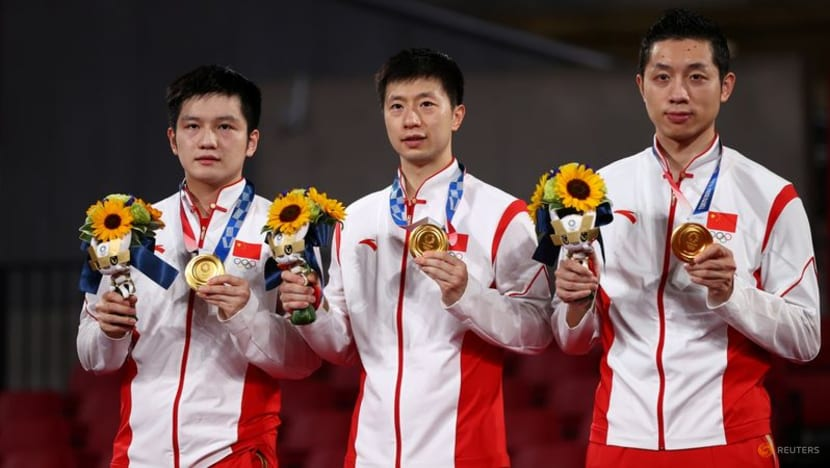 Olympics-Table Tennis-Dominant China take men's team gold