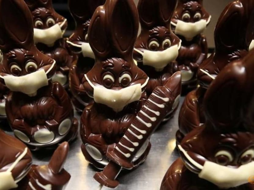 After masked bunnies, Belgian artisan shifts to chocolate syringes