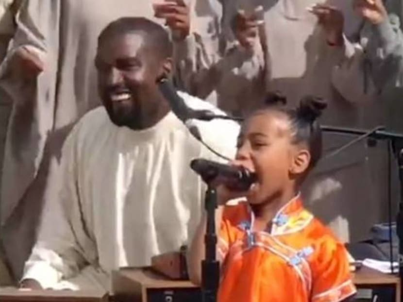 Like father, like daughter: North West steals the show at Kanye West's Sunday Service show