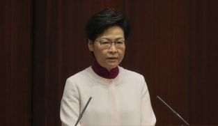 Hong Kong leader Carrie Lam in hospital with elbow fracture