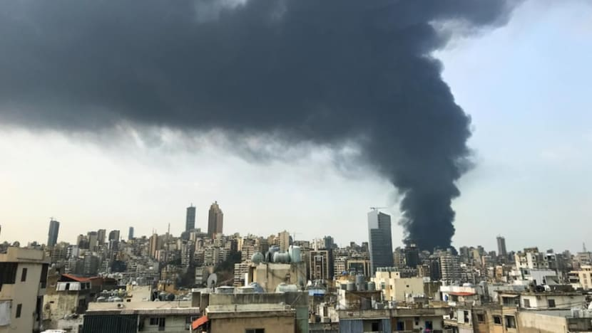 Large fire erupts in Beirut port area, about a month after massive blast