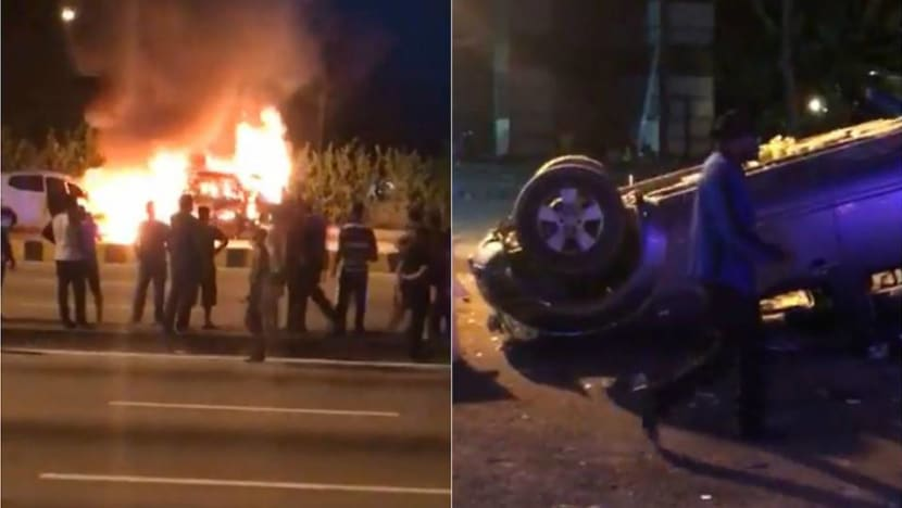 Violence breaks out near Malaysia temple, vehicles set ablaze