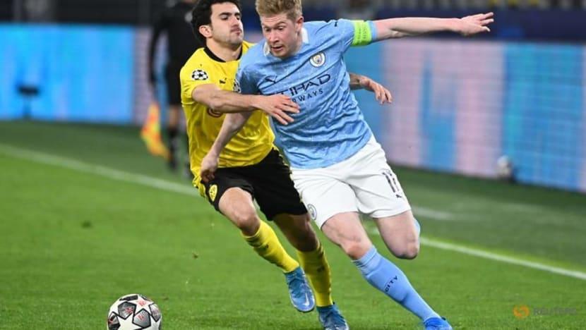 Soccer-De Bruyne, Aguero back for Man City as Guardiola targets fourth League Cup