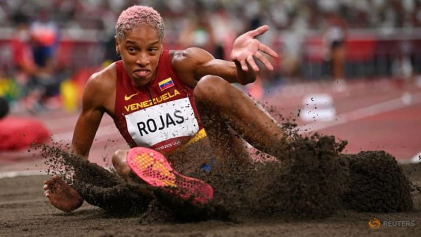 Olympics-Athletics-Rojas stays on course to make golden leap for Venezuela